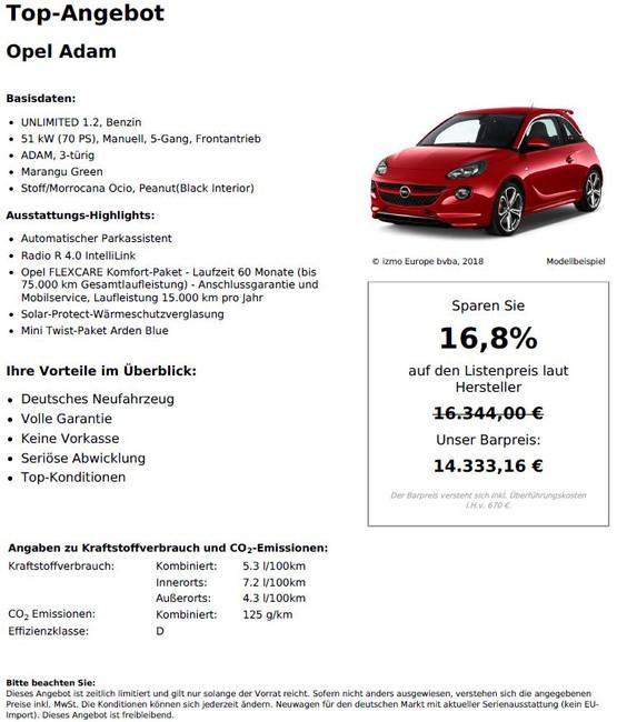 Opel Adam UNLIMITWED 1.2