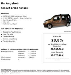 Renault Grand Kangoo Neuwagen