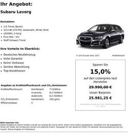 Subaru Levorg Neuwgen