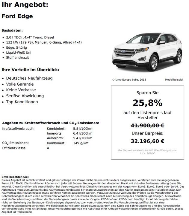 """Ford Edge 2,0 l TDCi """"4x4"""" Trend"""