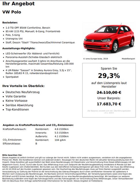 VW Polo 1.0 TSI OPF 85kW Comfortline