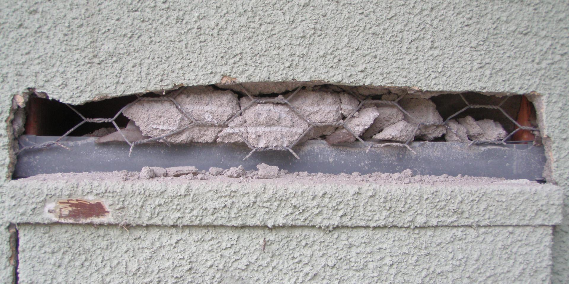 Before Panel Upgrade Job 2 Remove Stucco