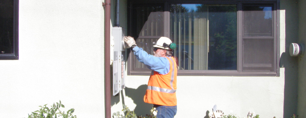 After Panel Upgrade Job 2 PG&E Installs the Meter.