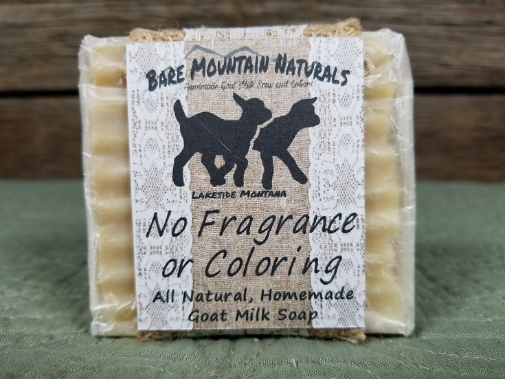 No Fragrance or Coloring All Natural GoatMilk Soap