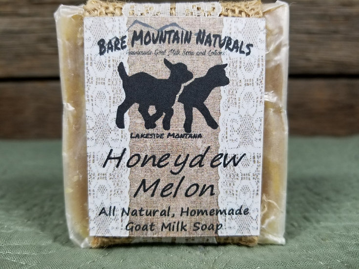 Honeydew Melon Fragrance All Natural Goat Milk Soap