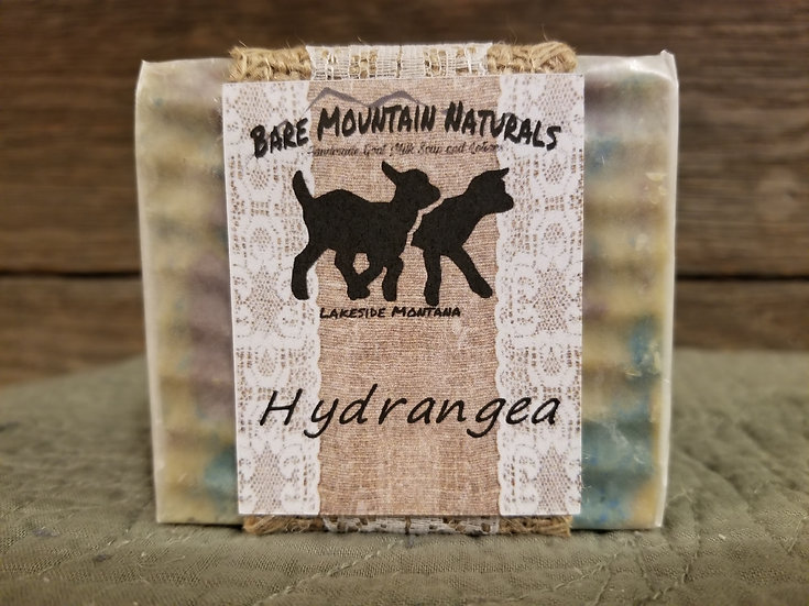 Hydrangea Fragrance All Natural Goat Milk Soap