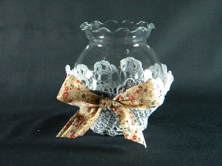 Flower Vase with Removable Lace Decor