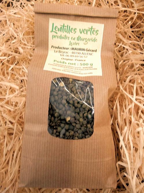 Lentille verte de Lozère 500gr