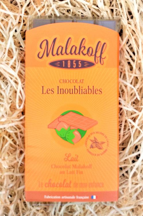 Tablette Chocolat au Lait Malakoff