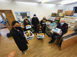 School staff at the foodbank
