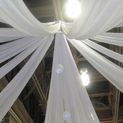 Ceiling Drapes White