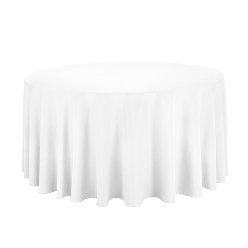 White Table Linen : Round