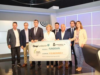 Fundación Gmp entrega a Fundown la cifra récord de 53.382 € correspondientes al 9º Festival Internac