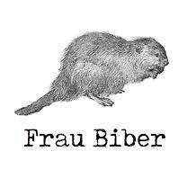 Frau Biber Sticker Aufkleber