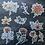 Thumbnail: Fremdgebibert   Watercolor Blumen   10 Stück