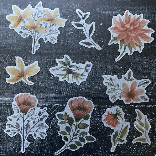 Fremdgebibert   Watercolor Blumen   10 Stück