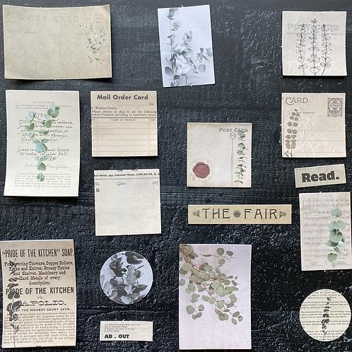 Vintage Journalingsticker | Eukalyptus | Fremdgebibert | 20 Stück