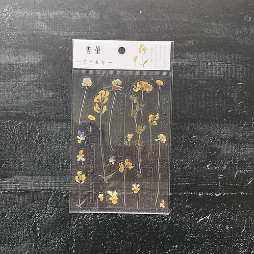 Fremdgebibert | Stickersheet gelbe Blumen | 1 Sheet