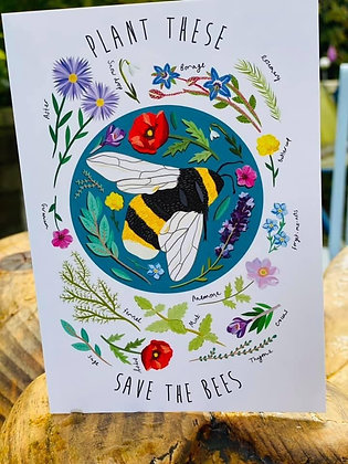 'Save Our  Bees' Greeting Card