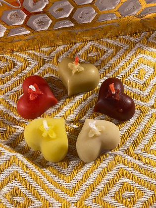 100% Beeswax Candles - Small Heart