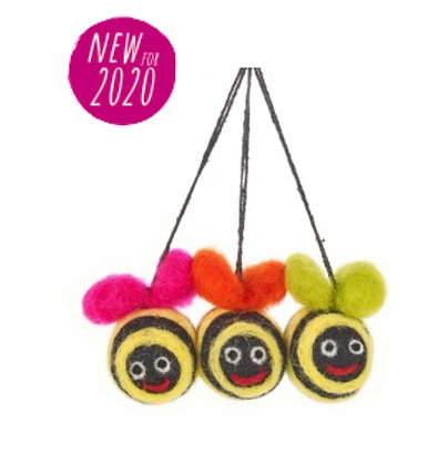 FeltSoGood -Mini Groovy Bumble Bees (pack of 3)