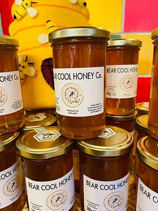 340g -12oz Jar of Honey with classic Gold  Lid