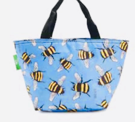 Eco Chic - Blue Bumble Bee Lunch Bag