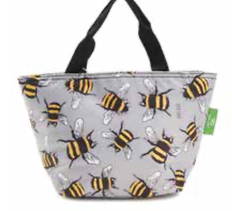 Eco Chic - Grey Bumble Bee Lunch Bag