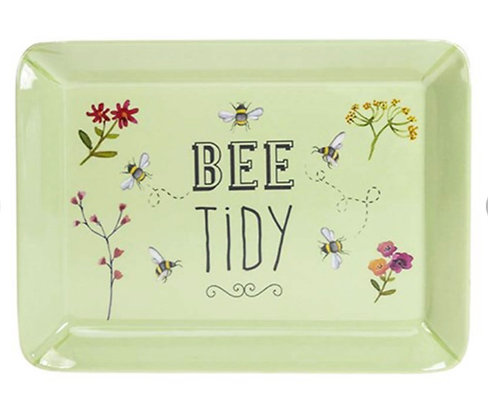 Bee Happy Green Scatter Tray