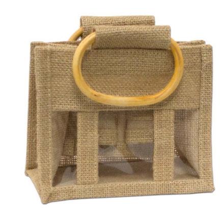 Mini 3 Window Jute Gift Bag