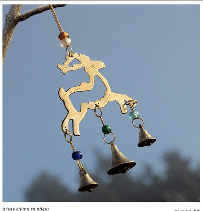Brass chime reindeer