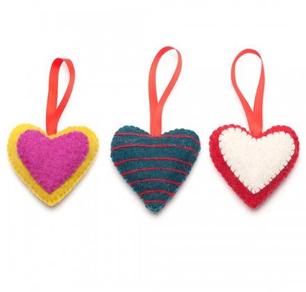 FeltSoGood -Beautiful Heart Decoration
