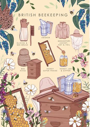 Beekeeping - Greeting Card