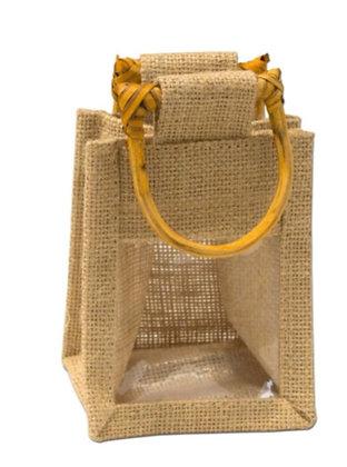Jute 1 Window Gift Bag - Small