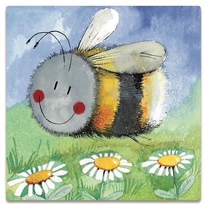Happy Bee - Alex Clark Fridge Magnet