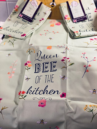Queen Bee -Tea Towel