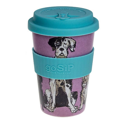 Rice husk cup 14oz, Woofs Design