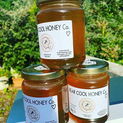 Fancy Glass - 454g - 1lb  Jar of Honey