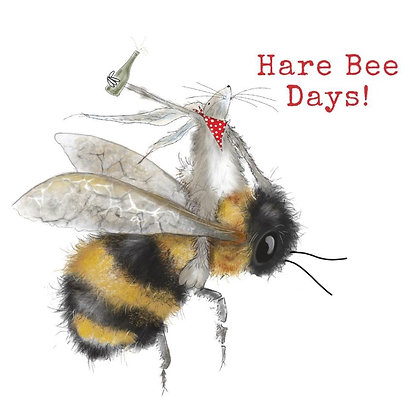 Hare Bee Days Greeting Card by Sarah Boddy