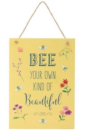 Bee Happy Beautiful Wall Plaque