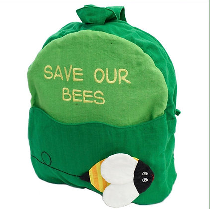 Child's green backpack - Save Our Bees