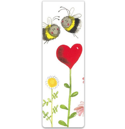 Alex Clark Love Heart Bees Magnetic Bookmark