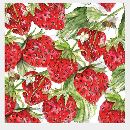 Strawberry- Bee-tannicals Greeting Card by Sarah Boddy