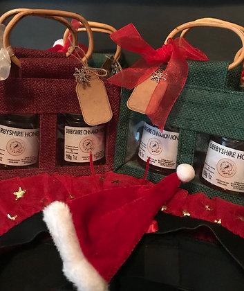Xmas Honey Gift sets 7oz jars