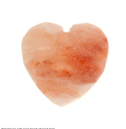 Himalayan salt soap heart shaped 6cm