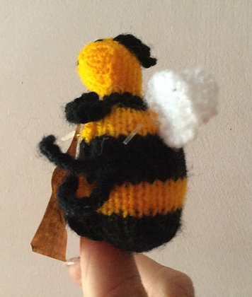 Finger puppet bumble bee