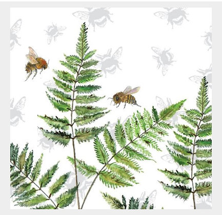 Fern - Bee-tannicals Greeting Card by Sarah Boddy