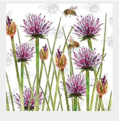 Chive - Bee-tannicals Greeting Card by Sarah Boddy