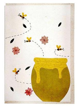 Handmade card, honeypot