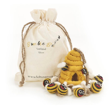Fabulous Felt Bumble Bee Garland
